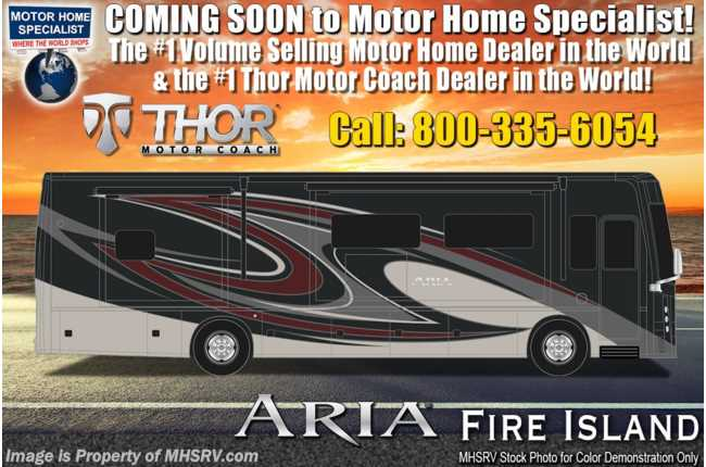 2020 Thor Motor Coach Aria 4000 2 Full Bath, Bunk Model 360HP Diesel RV W/King, Studio Collection