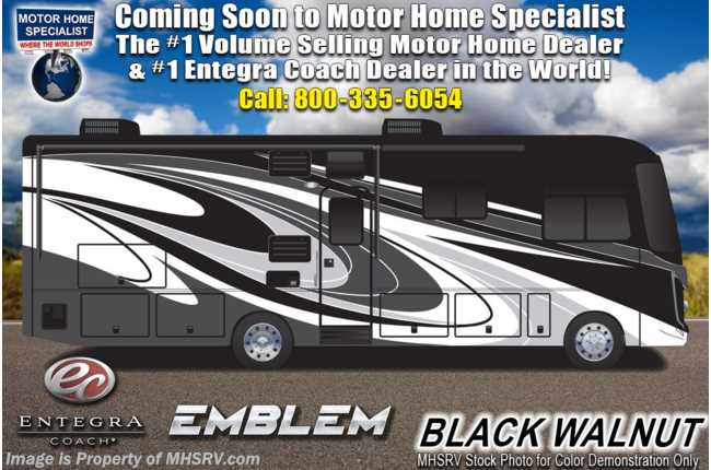 2021 Entegra Coach Emblem 36T Bath & 1/2 Bunk Model W/ Theater Seats, OH Loft, King & W/D