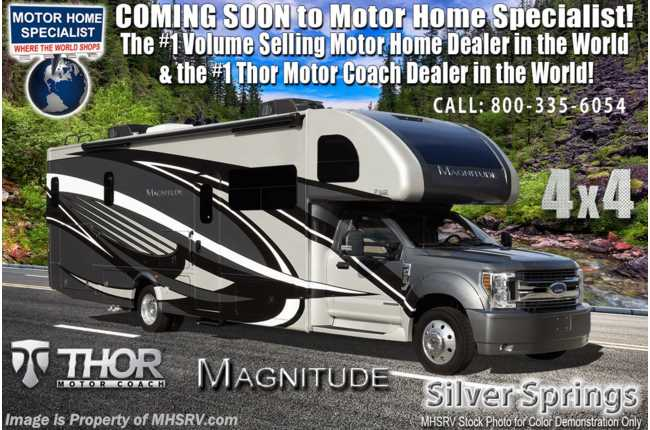 2021 Thor Motor Coach Magnitude SV34 4x4 330HP Diesel Super C RV for Sale @ MHSRV W/ 300HP