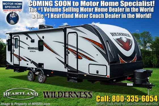 2020 Heartland RV Wilderness WD 2475 BH Bunk Model Travel Trailer W/ Power Sabilizers, King Floorplan