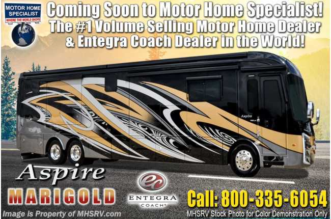 2021 Entegra Coach Aspire 44B Bath & 1/2 W/ Reclining Sofa, Solar, Valid Digital Dash & Stonewall