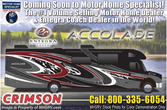 2021 Entegra Coach Accolade 37TS Diesel Super C RV W/ 360HP, W/D, King, Pwr Theater Seating