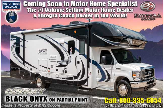 2021 Entegra Coach Odyssey 30Z W/ Customer Value Pkg, Bedroom TV & Auto Jacks