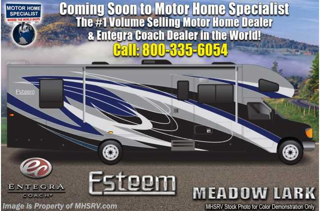 2021 Entegra Coach Esteem 31F Bunk Model W/ Aluminum Rims, 2 A/Cs & Customer Value Pkg