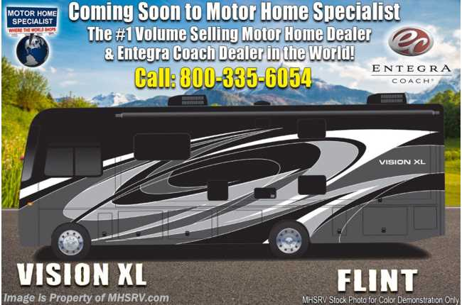 2021 Entegra Coach Vision XL 34B W/ King, Reclining Sofa, OH Loft, Customer Value Pkg