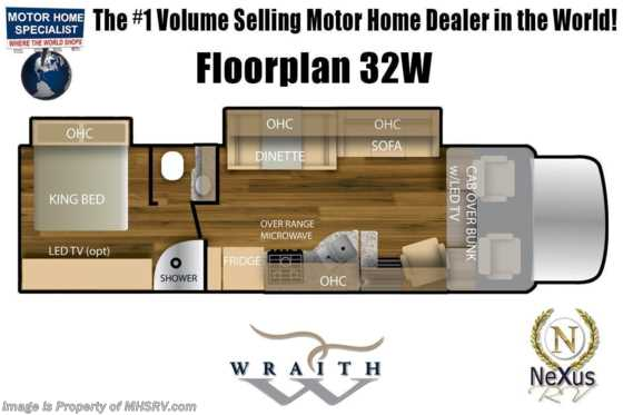 2021 Nexus Wraith 32W W/ Ext TV, Theater Seats, King & Wraith Value Pkg Floorplan