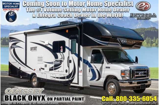 2021 Entegra Coach Odyssey 25R W/ Theater Seats, Auto Jacks & Bedroom TV