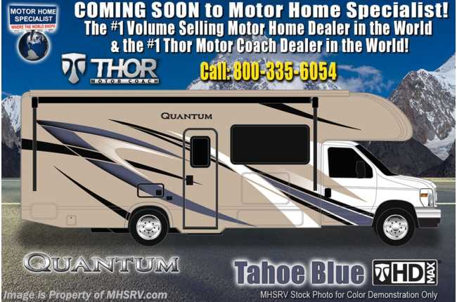 "2021 Thor Motor Coach Quantum KW29 W/ 2 A/Cs, Ext TV, King, W/D Prep, 40"" TV"