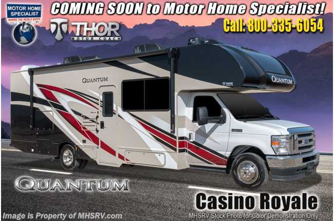 "2021 Thor Motor Coach Quantum LF31 Bunk Model W/ 2 A/Cs, Solar, Ext TV, Res Fridge & 40"" TV, MORryde© Suspension"