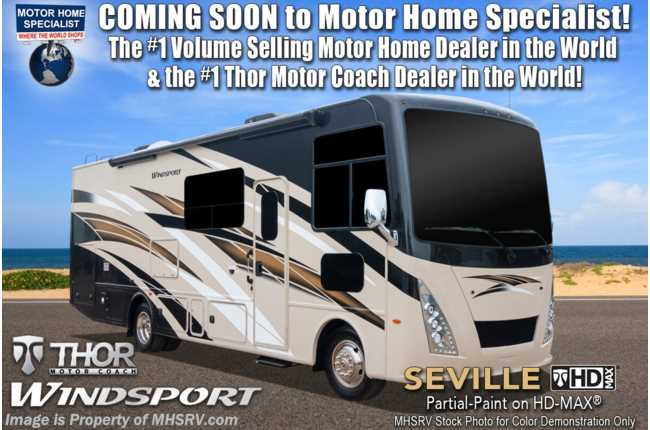 2021 Thor Motor Coach Windsport 32T W/ Theater Seats, Exterior TV, Solar & King Bed