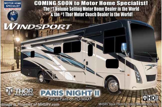 2021 Thor Motor Coach Windsport 29M W/ Theater Seats, Exterior TV, Solar & King Bed