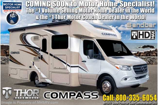 2021 Thor Motor Coach Compass 23TW All-Wheel Drive (AWD) Luxury B+ EcoBoost® Edition  15K A/C