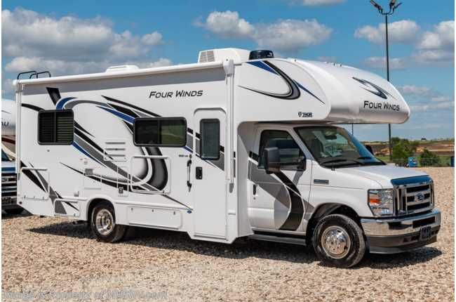 2021 Thor Motor Coach Four Winds 25V W/ 15K A/C, Ext TV, Bedroom TV, Stabilizers