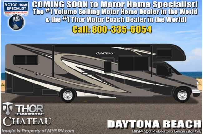 2021 Thor Motor Coach Chateau 31W W/ Mor-Ryde Suspension, Theater Seats, 2 A/Cs, Solar, FBP