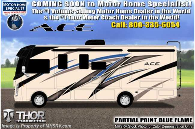 2021 Thor Motor Coach A.C.E. 27.2 Pet Friendly RV W/ King, Solar, OH Loft & 2 A/Cs
