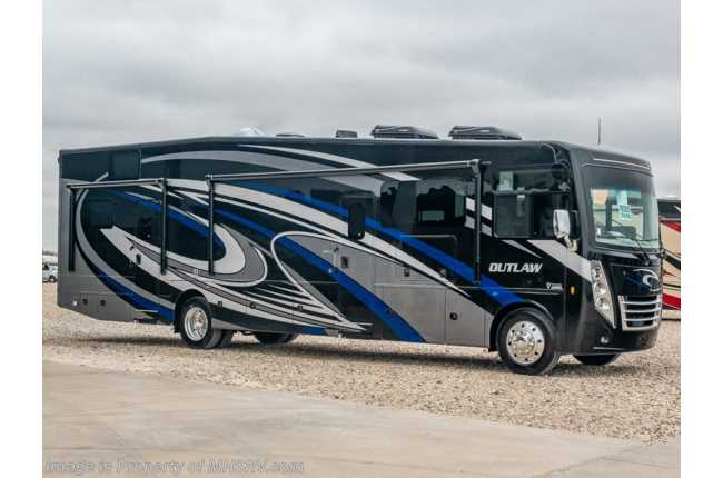 2021 Thor Motor Coach Outlaw Toy Hauler 38KB Toy Hauler RV W/ Dual Pane, Garage Sofas & King Bed