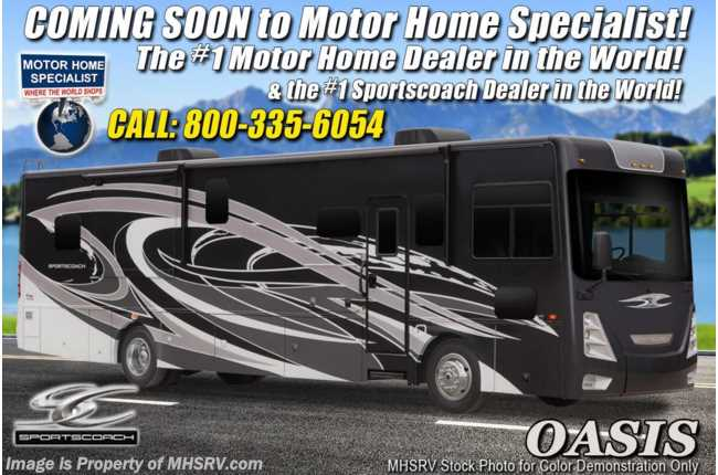 2021 Coachmen Sportscoach SRS 365RB Bath & 1/2 W/ King, W/D, OH Loft & 340HP
