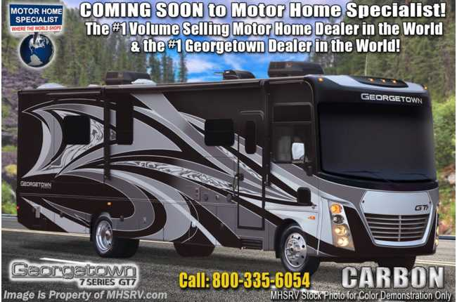 2021 Forest River Georgetown GT7 36K7 Bunk Model W/Two Full Baths, Theater Seating, King Bed & W/D