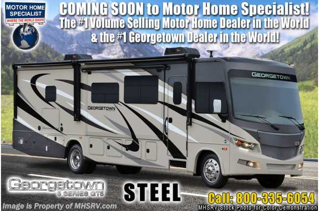 2021 Forest River Georgetown GT5 36B5 2 Full Bath Bunk Model W/King, W/D, Theater Seats, OH Loft