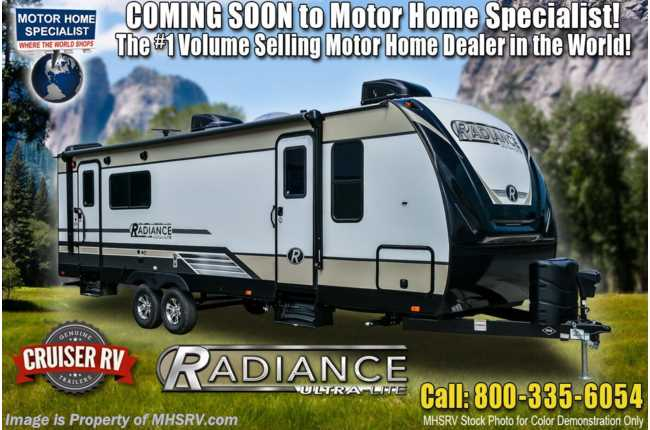 2021 Cruiser RV Radiance Ultra-Lite 28QD Bunk Model RV for Sale W/ King, 2 A/Cs & Stabilizers