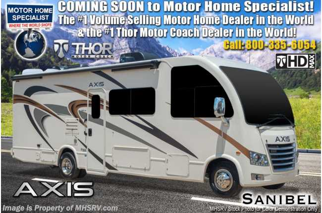 2021 Thor Motor Coach Axis 24.1 RUV W/ Stabilizers, Pwr Driver Seat, WiFi, Solar