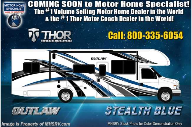 2021 Thor Motor Coach Outlaw Toy Hauler 29S Toy Hauler Class C RV W/ Solar, Ext TV