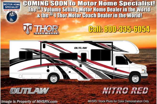 2021 Thor Motor Coach Outlaw Toy Hauler 29S Toy Hauler Class C RV W/ Ext TV & Solar