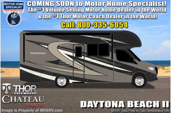 2021 Thor Motor Coach Chateau Sprinter C 24BL Sprinter W/ FBP, Home Collection, Bedroom TV, Tank Heaters