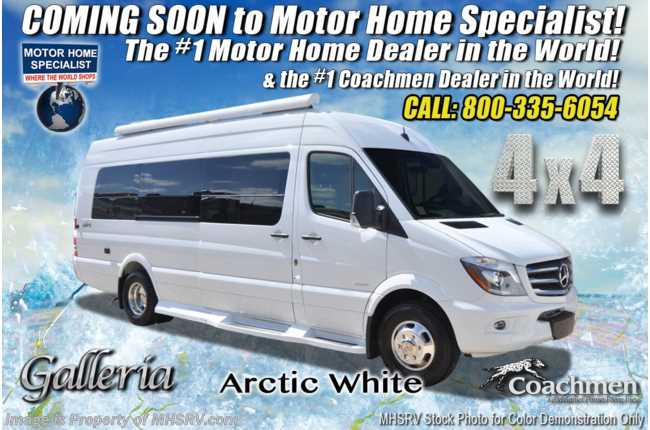 2021 Coachmen Galleria 24Q 4x4 Sprinter Diesel W/ Li3 Lithium Battery Sys, 20K A/C, Rims