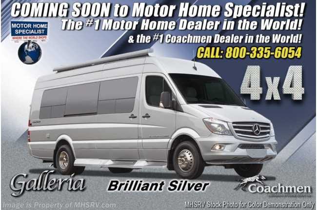 2021 Coachmen Galleria 24A 4x4 Sprinter W/ Li3 Lithium Battery Sys, 20K A/C, Solar