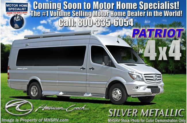 2021 American Coach Patriot MD2 4x4 Sprinter W/ Lithium Eco-Freedom Pkg, Apple TV, 4 Cams