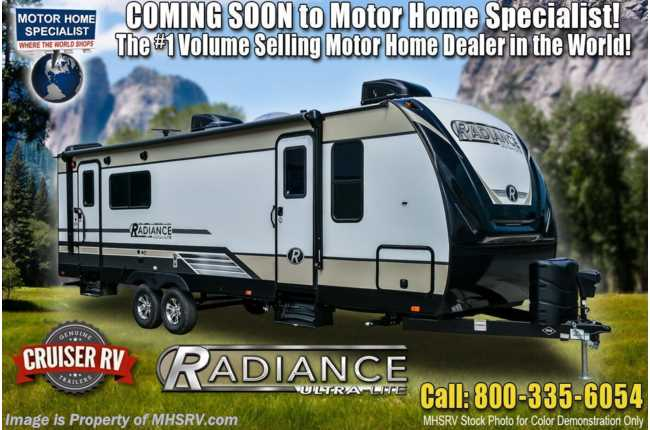 2021 Cruiser RV Radiance Ultra-Lite 25RB W/ King, Walk-In Pantry, 2 A/Cs & Power Stabilizers