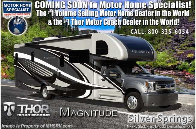2021 Thor Motor Coach Magnitude BB35 Bunk Model 330HP Diesel Super C W/ King, Dsl Gen, Ext Kitchen