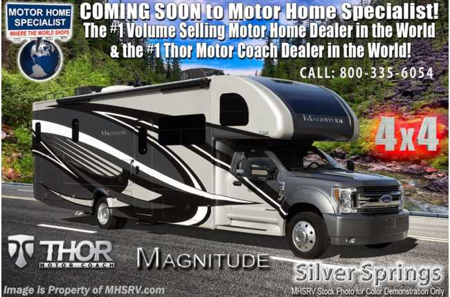 2021 Thor Motor Coach Magnitude SV34 4x4 330HP Diesel Super C W/ Theater Seats & King Bed
