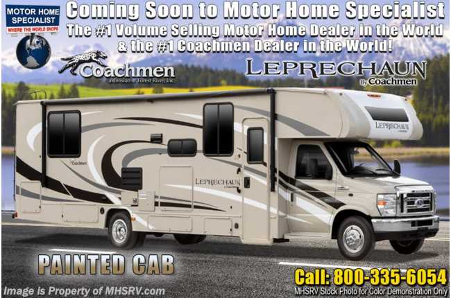 2021 Coachmen Leprechaun 319MB W/ 2 A/Cs, Jacks, 3 Cameras, Ext TV, Fireplace, CRV Comfort Pkg