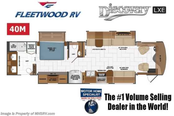 2021 Fleetwood Discovery LXE 40M Bath & 1/2 W/ Theater Seats, Tech Pkg, King Bed & OH Loft Floorplan