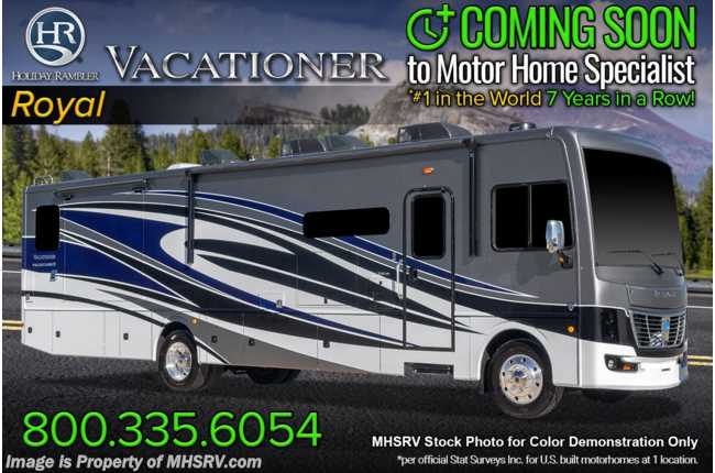 2021 Holiday Rambler Vacationer 33C W/ Theater Seats, W/D, King & Collision Mitigation