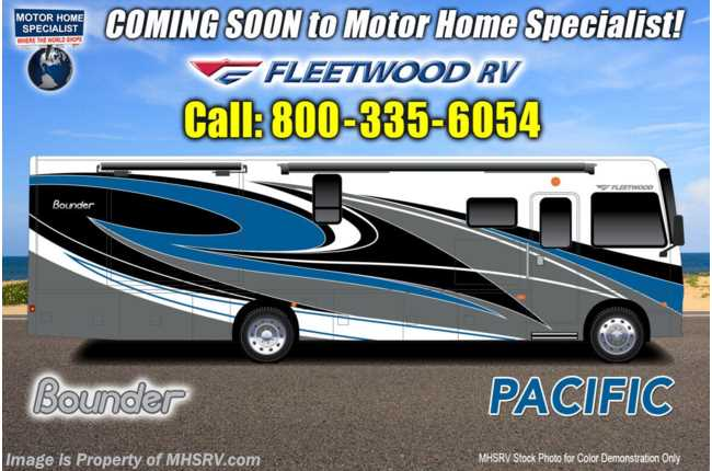 2021 Fleetwood Bounder 35K Bath & 1/2 W/ Theater Seats, Oceanfront collection & Collision Mitigation