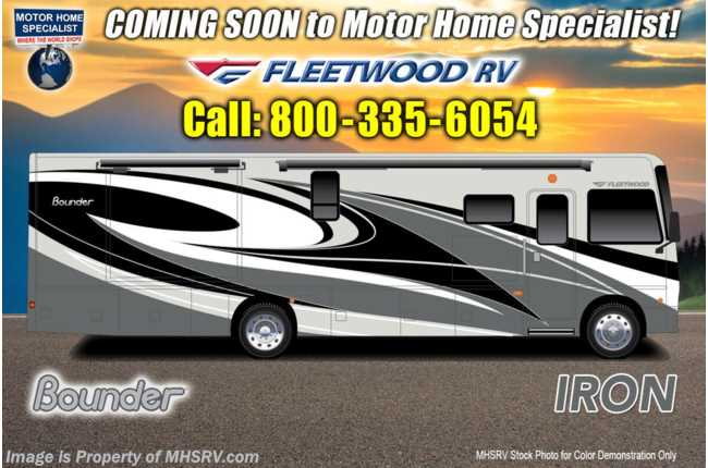 2021 Fleetwood Bounder 35K Bath & 1/2 W/ Theater Seats, King, W/D, Collision Mitigation