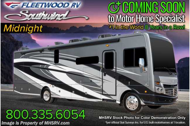 2021 Fleetwood Southwind 37F 2 Full Bath Bunk Model W/ Theater Seats, W/D, Sumo Springs