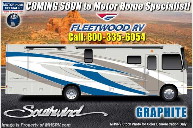2021 Fleetwood Southwind 37F 2 Full Bath Bunk Model W/ Theater Seats, W/D, King & Sumo Springs