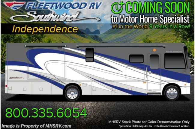 2022 Fleetwood Southwind 34C W/ Theater Seats, Collision Mitigation, 7KW Gen & Sumo Springs