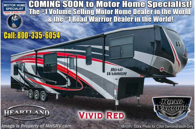 2021 Heartland RV Road Warrior 4275RW Luxury Toy Hauler RV for Sale - Bath & 1/2, 2 Patios, 3 A/Cs & FBP
