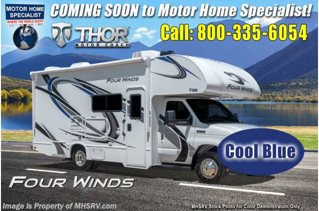 2021 Thor Motor Coach Four Winds 22E W/ 15K A/C, Ext TV, 3 Cameras, Heated Tanks & Home Collection