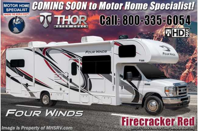 "2021 Thor Motor Coach Four Winds 31EV ""Victory Series"" Bunk Model Ford® V-8, 2 A/C, Home Collection™ Decor, MORryde© Suspension"