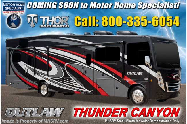 2021 Thor Motor Coach Outlaw Toy Hauler 38MB Toy Hauler RV W/ King Bed, Dual Pane & Garage Sofas
