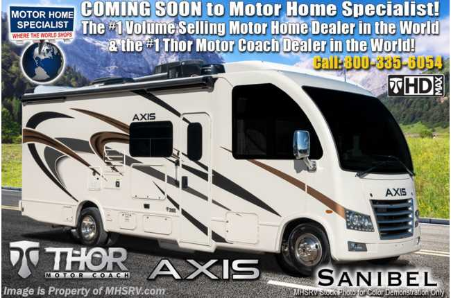 2021 Thor Motor Coach Axis 25.6 RUV W/ Solar, Power Driver Seat, OH Loft, Home Collection