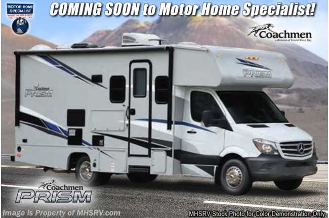2021 Coachmen Prism Select 24DS Sprinter Diesel W/ Ext TV, Recliners, Hydraulic Jacks