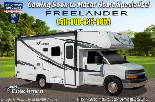 2021 Coachmen Freelander  21QB W/ OH Loft, Touch Screen Radio & Backup Cam