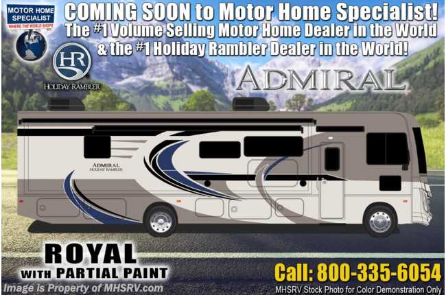 2021 Holiday Rambler Admiral 34J Class A Gas RV W/ Theater Seats, King Bed & Oceanfront Collection